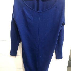 Athleta royal blue cashmere dress